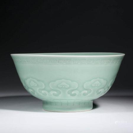 A CHINESE PORCELAIN CELADON-GLAZED BOWL