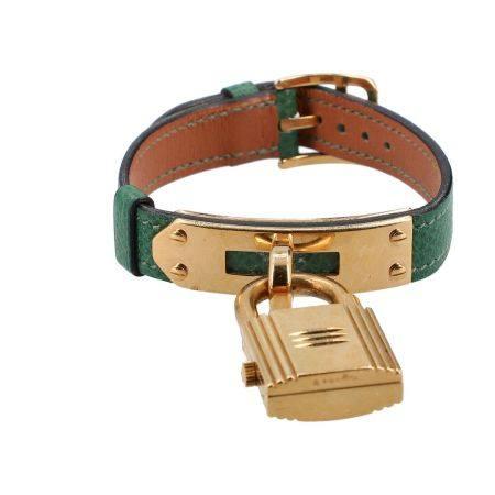 """HERMÈS Armbanduhr """"MONTRE KELLY-CADENAS"""", Koll.: 1990, NP.: 2 450 €."""