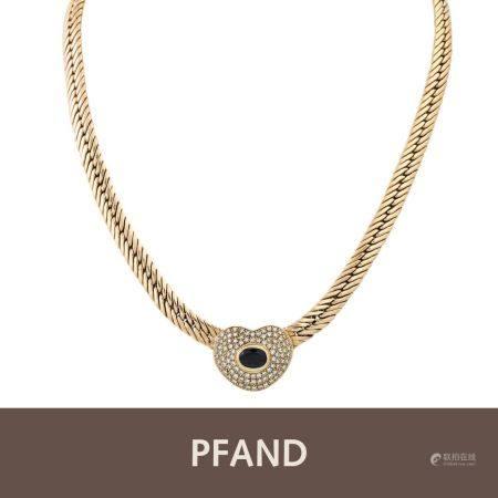 PFANDAUKTION - 1 Collier Brillanten ca. 1,10 ct Saphir Gold 14 kt