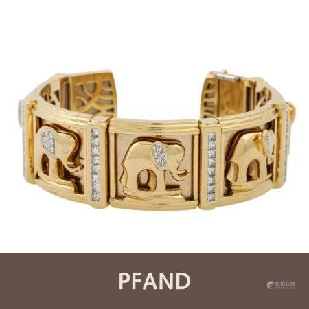 PFANDAUKTION - Armspange mit Prinzess-Diamanten 3.65 ct,