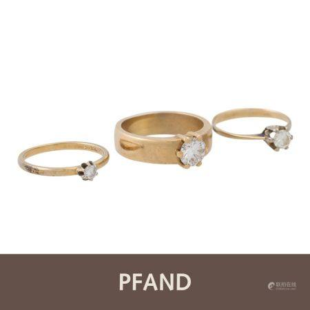 PFANDAUKTION - 1 Ring GG 18K, 1 Brillant ca. 1,21ct, TW/VS,