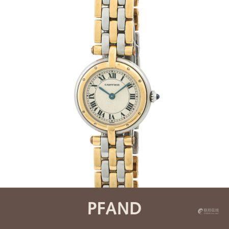 PFANDAUKTION - Cartier Damenuhr Stahl Gold Quarz Ref. 166920
