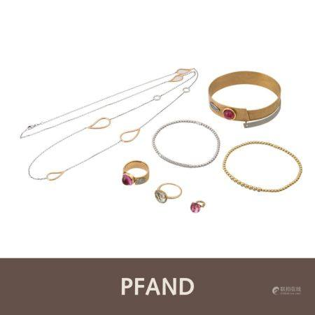 PFANDAUKTION - 2 Armbander Brill Al Coro 1 Armreif  1 Ring Brill