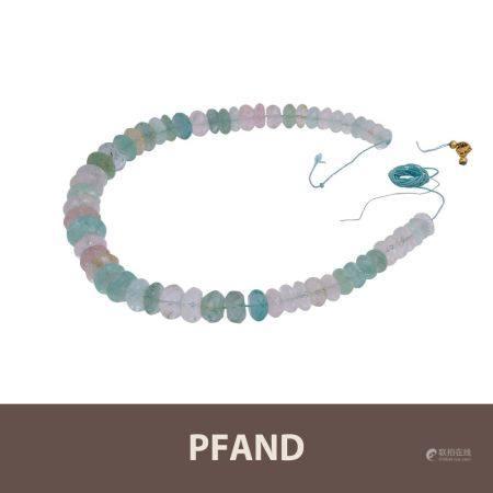 PFANDAUKTION - 1 Steinkette mit Aquamarin, Beryll und Morganit,