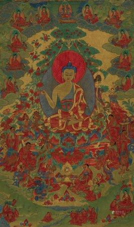 QING DYNASTY, CHINESE KESI EMBROIDERED THANGKA
