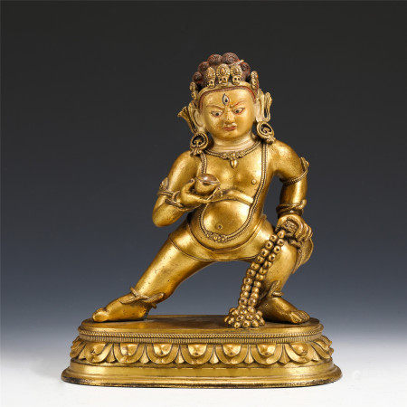 TIBETAN GILT BRONZE FIGURE OF BUDDHA