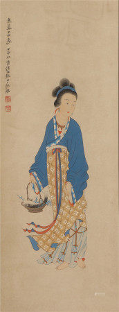 A CHINESE PAINTING LADY