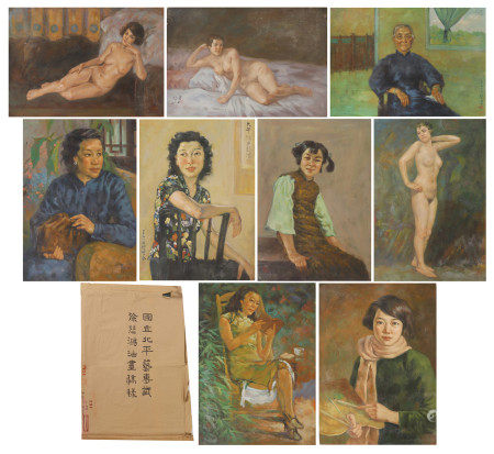 A CHINESE ALBUM OF OIL PAINTING