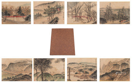 A CHINESE ALBUM OF PAINTINGS NATURAL SCENERY