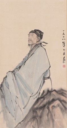 A CHINESE PAINTING FIGURE