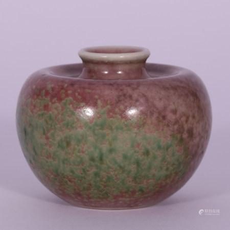 清 豇豆釉小罐