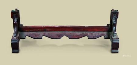 清代(1644-1911) 红木插屏座