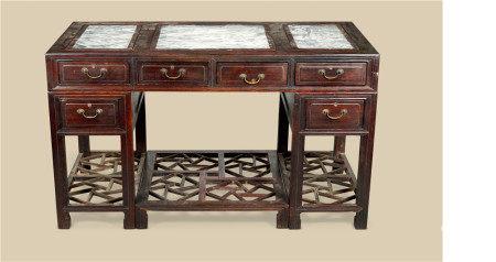 清代(1644-1911) 红木写字台