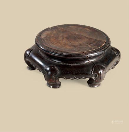 清代(1644-1911) 红木六角木托