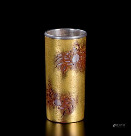 银包铜蟹纹巾筒