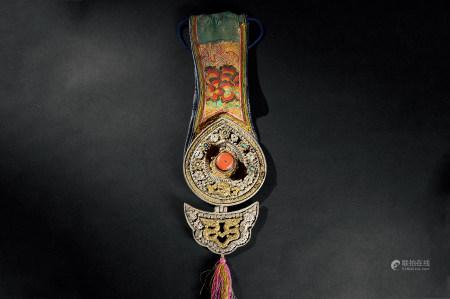 西藏铜嵌百宝挂件
