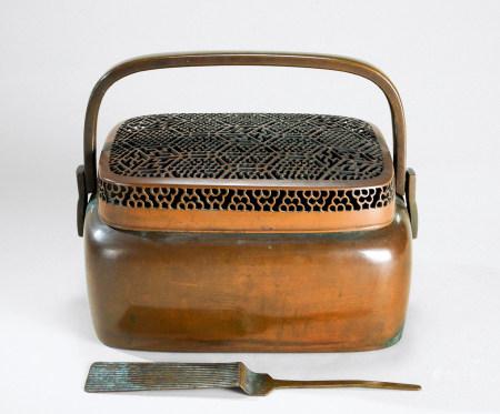 清代(1644-1911) 张鸣岐制 铜手炉