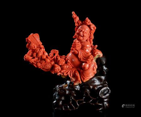 珊瑚雕五子登科弥勒像
