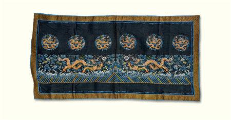 清代(1644~1911) 龙纹刺绣