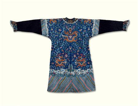 清代(1644~1911) 刺绣 龙袍
