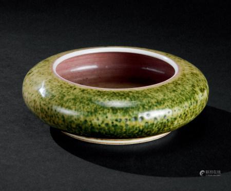 清康熙(1662~1722) 豇豆红釉水盂