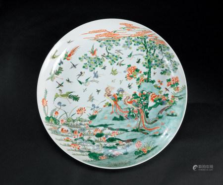 清康熙(1662~1722) 五彩百鸟朝凤纹大盘