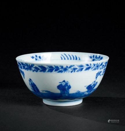清康熙(1662~1722) 青花龙凤人物纹碗