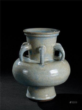 明代(1368~1644) 宜钧釉六象耳瓶