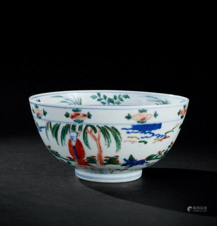 明代(1368~1644) 五彩罗汉纹碗