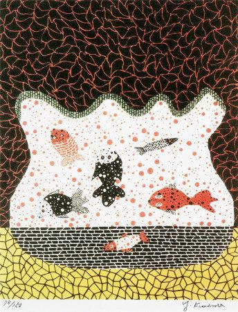 草间弥生(b.1929)  金鱼 版画