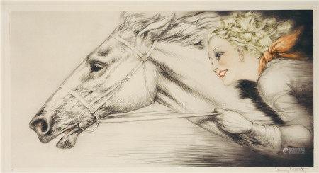 LOUIS ICART  赛马女孩