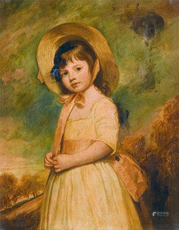 佚名  少女 油画