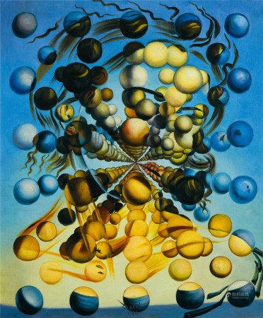 萨尔瓦多·达利(1904-1986)  球体的未来 油画