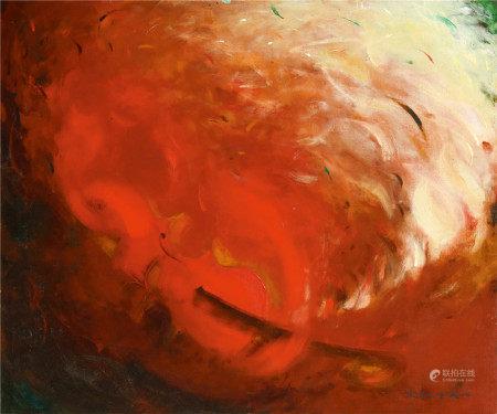 赵无极(1921-2013)  提琴 油画