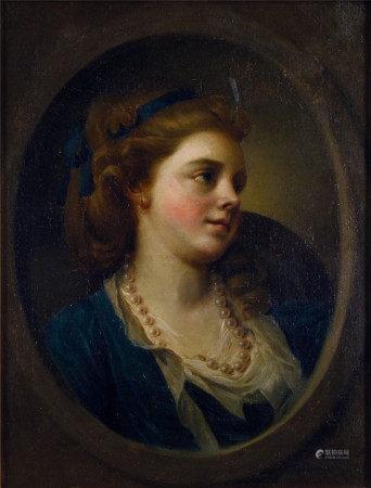 Jean Francois Colson  女肖像 油画