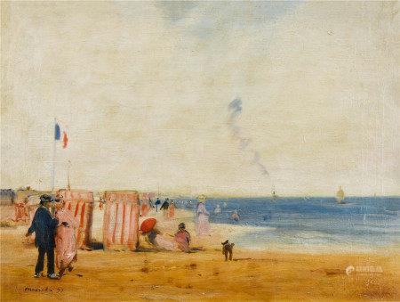爱德华·马奈  布列塔尼的海岸 油画