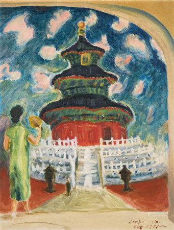 梅原龙三郎  天坛 油画