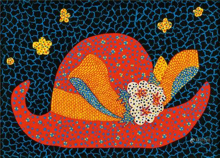 草间弥生(b.1929)  Red Hat 油画