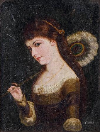 佚名  妇人肖像 油画