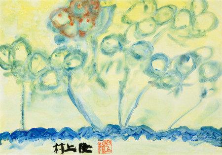 村上隆(b.1962)  梦之花 镜心 设色纸本
