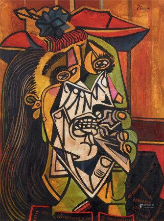 毕加索(1881-1973)  女人肖像 油画