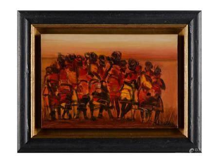 Livio Morais, Dança Ritual, 1999, 38 x 55cm