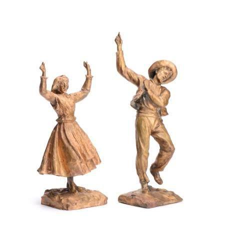 MOREIRA, Par de esculturas em bronze (2)