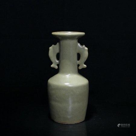 宋 耀州窑鱼耳瓶