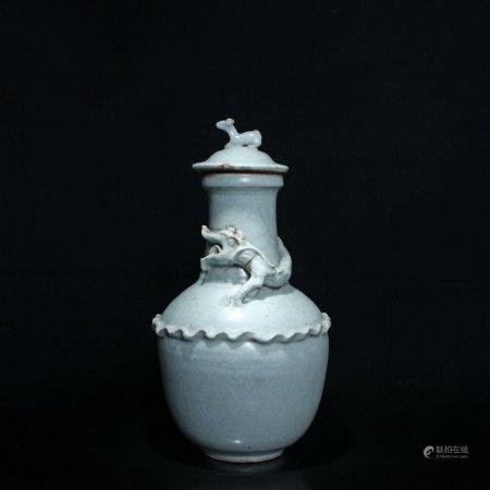 宋 龙泉窑龙瓶