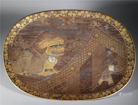 Meiji Period Metalworking Plate