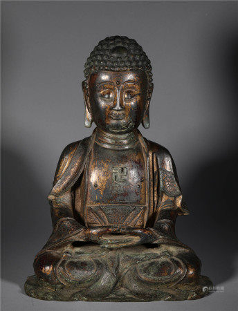 Gilt Bronze Buddha in Qing Dynasty