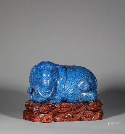 Lapis Lazuli Elephant of Qing Dynasty