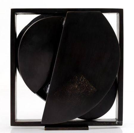 """RAFAEL CANOGAR (1935 / .) """"Cabeza Lorca"""", 2007"""