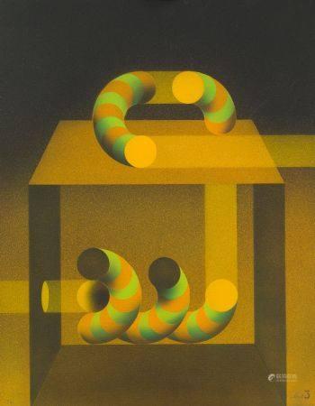 "JULIO  LE PARC (1928 / .) ""American Genesis, 1982"